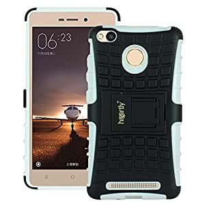 Heartly Rugged Shock Proof Tough Armor Back Case For Xiaomi Redmi 3S Prime / Redmi 3S - Best White