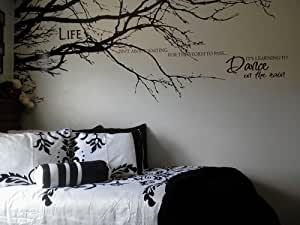 """Tree Top Branches-Home Vinyl Wall Decal Sticker Wall Art 100""""(W)*44""""(H) by WallStickersDecal (Black)"""