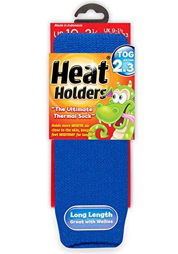 Heat Holders - Kinder Warme Winter Thermosocken in 8 Farben und 2 Größen (26-32 Eur, Königsblau) (Kind Socken Warm)
