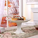 Chaoson Eurpoe Advanced White Bone China Cake Stand Dishes And Plates Porcelain Luxury Pastry Fruit Dish Tray For Teatime Meal Kitchen