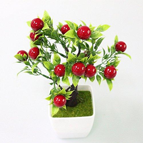 TQ Künstliche Kunststoff Pflanzen Obstbaum Simulationsanlage Mini Eingemacht Für Home Party Büro Couchtisch Dekoration,A
