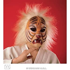 WIDMANN Máscara de Tigre con Pelo infantil Cualquier día