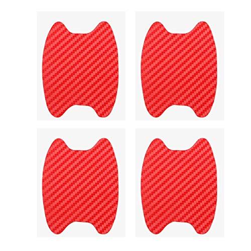 Topker 4Pcs / Set Universal Carbon-Faser-Auto-Tür-Handgriff-Film-Aufkleber Auto-Anti-Kratzer-Aufkleber-Schutz Film Griff -