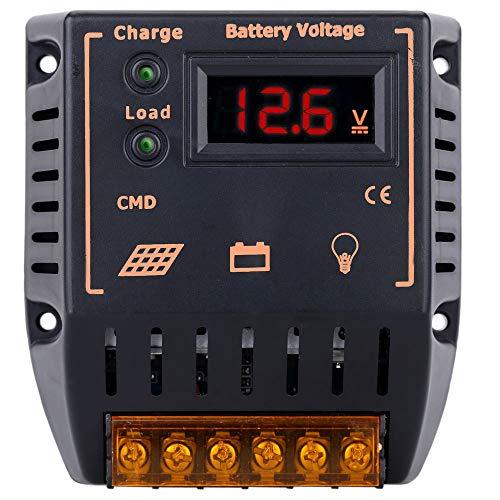 Hylotele Solarladeregler 10A 12V / 24V LCD Bildschirm Solarregler Auto Regulator Sonnenkollektor Batterie System Überladungsschutz -