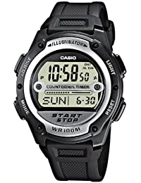 Casio Collection – Herren-Armbanduhr mit Digital-Display und Resin-Armband – W-756-1AVES