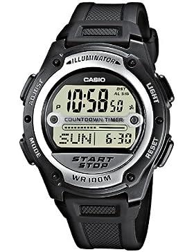 Casio Collection - Herren-Armbanduhr mit Digital-Display und Resin-Armband - W-756-1AVES