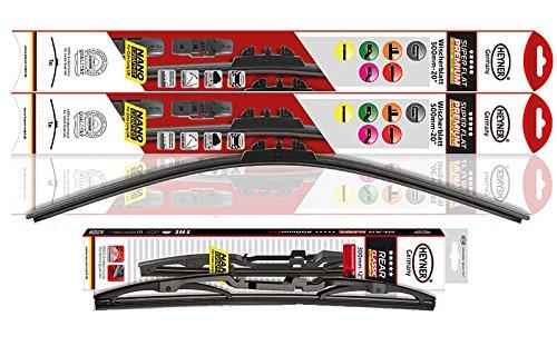 "HEYNER Super Premium piatto spazzole tergivetro anteriore e posteriore classico HEYNER 24"" 15"" 12"" PT [NissQUS] HSF2415PT12HRC"