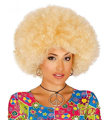 für Damen und Herren Locken Hippie Clown , Farbe: Blond (Große Rote Perücke)