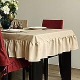 SCLOTHS Mantel de algodón clásico simple decoración de la Mesa de Comedor 140*160cm