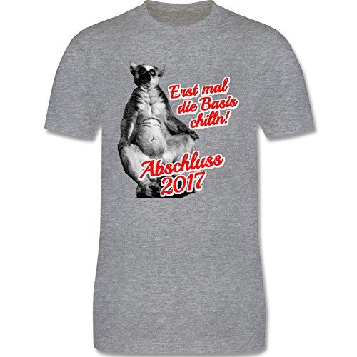 Abi & Abschluss - Abschluss 2017 Erst mal die Basis chilln! - Herren Premium T-Shirt Grau Meliert