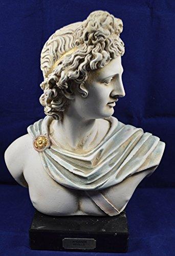 Apollo–Escultura Busto antiguo dios griego de sol y poesía gran artefacto