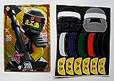 Lego Ninjago XXL Karte LE 24 Ultra Power Cole + 1 Ninja Movie Aufkleber Sticker,bunt,selten