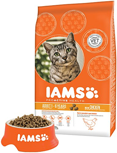 IAMS Adult Dry Cat Food with Fresh Chicken, 3Kg 4