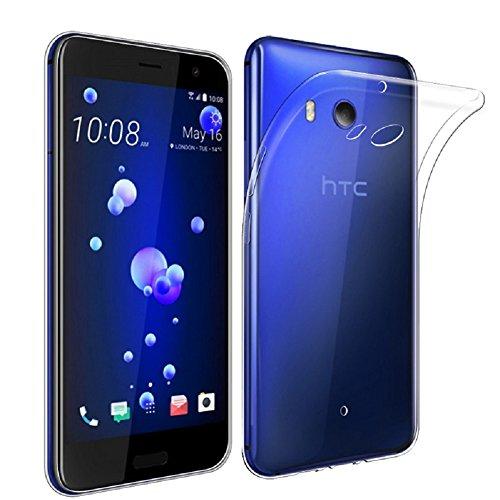 AVIDET Custodia in TPU Custodia [Assorbimento Urto] silicone semplice ma elegante per il HTC U11 (Trasparente)