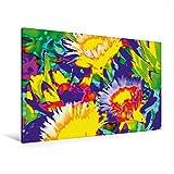 Premium Textil-Leinwand 120 cm x 80 cm quer, Blütenpracht - Ein Motiv aus dem Kalender Kunstwerke in Acryl | Wandbild, Bild auf Keilrahmen, Fertigbild Leinwand, Leinwanddruck (CALVENDO Kunst)