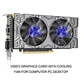 Lorenlli Fit GTX1050 GDDR5 2 GB 256-Bit-Gaming-Grafikkarte mit Lüfter Grafikkarten-Displaykarte Für NVIDIA HDMI + VGA + DVI-Ausgang
