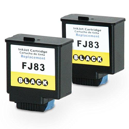 Rebuilt Fax-patrone (2x Tintenpatrone für Olivetti FJ-83 B0797 Fax-LAB 650 680)