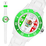Taffstyle® Fanartikel Silikon Armbanduhr Gummi Trend Watch Quarz Fan Uhr mit Fussball Weltmeisterschaft WM & EM Europameisterschaft 2016 Länder Flaggen Style - Mexiko