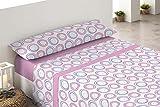 Cisne Rojo Perla - Juego de sábanas polares para cama de 135 cm