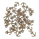 Hongma 10 Stück Anker Schmuckanhänger Bastelanhänger für Halskette Armband Schmuckherstellung DIY