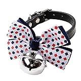 probeninmappx Haustier Hund Spot Point Fliege Halsband mit Silber Bell Anhänger Basic Schnalle Kragen Martingal Strap Hunde Leine Haustier Liebhaber Geschenk (32x1 cm, bunt)