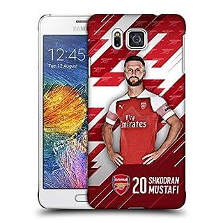 Head Case Designs Offizielle Arsenal FC Shkodran Mustafi 2018/19 Erstes Team Gruppe 1 Ruckseite Hülle für Samsung Galaxy Alpha