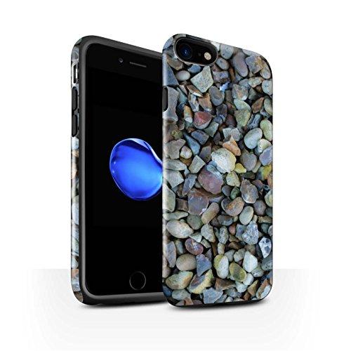 STUFF4 Glanz Harten Stoßfest Hülle / Case für Apple iPhone 8 / Steinboden/Orange Muster / Stein/Rock Kollektion Kieselsteine