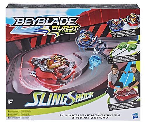 Beyblade Burst Turbo Arene Hyper Vitesse et toupies Beyblade Burst Slingshock Wonder Valtryek V4 et Achilles A4