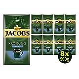 Jacobs KRÖNUNG MILD gemahlen 8x 500g (4000g) - Jacobs Filterkaffee, Kaffee