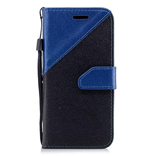 Coque Huawei Mate 10 Pro,Etui Huawei Mate 10 Pro,Surakey Huawei Mate 10 Pro Cuir PU Housse à Rabat Portefeuille Étui Flip Case Folio à Clapet Stand de Fermeture magnétique, Noir+Bleu