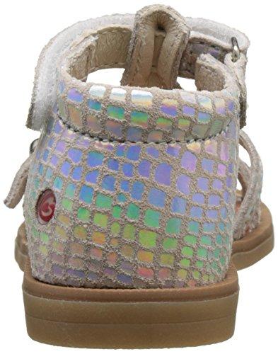 GBB Baby Mädchen Philippine Krabbelschuhe Argent (Vte Argent Dpf/2794) Nb8BcRFq