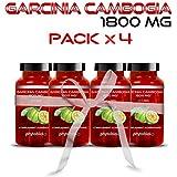 Garcinia Cambogia Pure 1800MG Phytobiol (Pack x4) - Teneur maximale et AHC 60% - 240 Capsules Traitement Minceur...