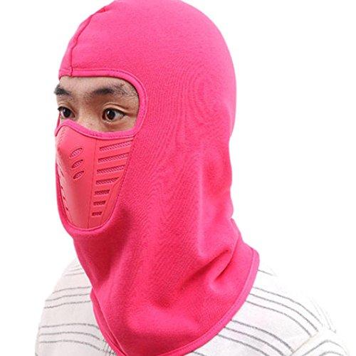 LCLrute Winter Fleece Schal Nackenwärmer Gesichtsmaske Skifahren Radfahren Wandern Maske (Pink) (Magie Handschuhe Stricken)