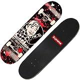 QYSZYG varietà di personalità di Doppio-ordito Adulto dello Skateboard del principiante Facoltativo Staffa di Alluminio del Piatto di Corta Forte Resistenza di Impatto Skateboard (Colore : C)
