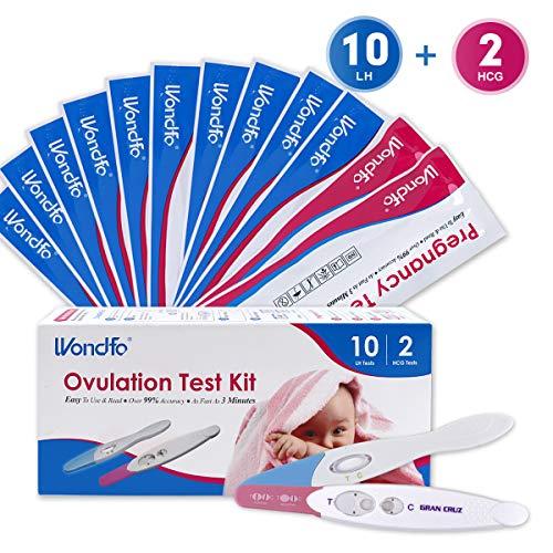 Wondfo 2xSchwangerschaftstest 10xOvulationstest Stickset Ultra Early Result Detection Kits Hochempfindlich Schnell Zuhause Selbstüberprüfung Midstream, Packung mit 10 LH 2 HCG -