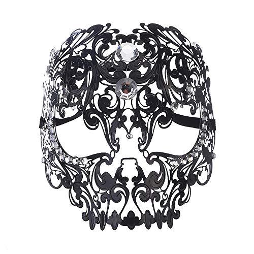 be Gesichtsmaske Tiger Kopf Make-up Cosplay Requisiten Eisen Vollmaske (Color : Black) ()