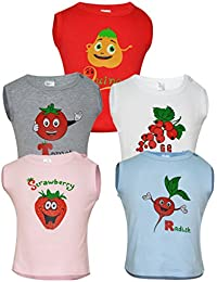 Goodway Pack of 5 Fruit and Veggies Theme Vests