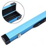 2Queue blau Aluminium 1Stück Pool Snooker Queue Koffer–148cm max Queue Länge