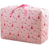 House of Quirk Extra Large Oversized Handy Storage Bag Heavy Duty Travel Luggage Caddy Organizer Laundry Bags Duffel Space Saver with Web Handles for Quilt Beddings Blanket