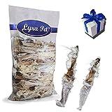 Lyra Pet 500g Kaninchenohren mit Fell Leckerli Hundefutter Hasenohren + Geschenk