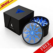 Thorinder 4 Piece Spice Herb Grinder by AFTER GROW Color Blue by AFTER GROW