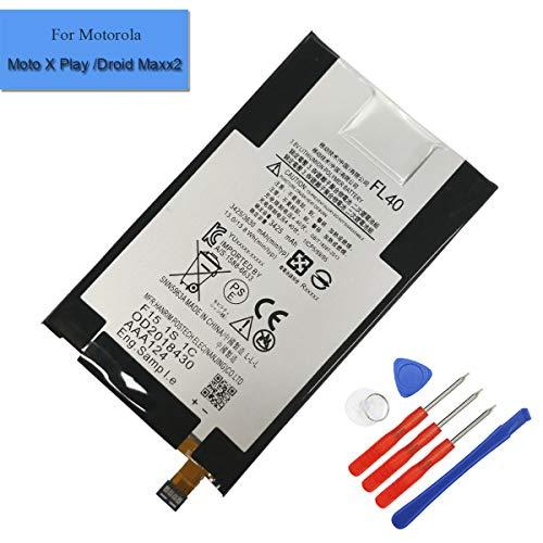 Batteria di ricambio ai polimeri di litio FL40 compatibile con Motorola Moto X Play Droid Maxx 2 Moto X 3a XT1560 XT1561 XT1562 XT1563 SNN5963B