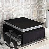 NAN Liang Regal Induktionsherd Halterung Sub-Sets Dichtung Küche Regal Gasherd Gasherd Rack Rack Mikrowelle Rack (40x30x8.6cm) Nicht rosten (Farbe : Black Walnut)