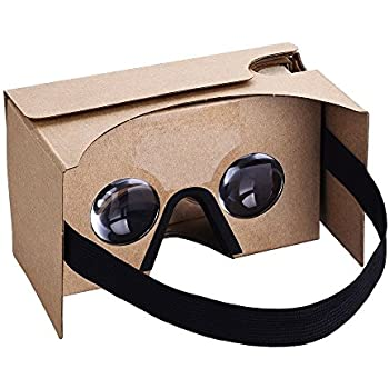 VR Glasses, OMorc Cardboard Virtual Reality Headset 3D Glasses with Head Strap Nose Pad, Suction Cups For 4.0-5.5 Inch Screen Android and Apple Smartphone