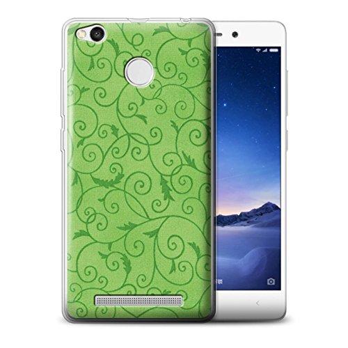 Stuff4MR-Phone Case/Cover/Skin/redmi3x -gc/Vine Floral Pattern Collection grün -