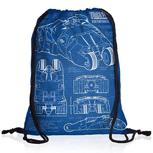 style3 Bat Tumbler Borsa da spalla sacco sacchetto drawstring bag gymsac cianografia gotham