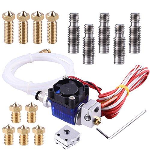 EAONE-Tte-J-V6-Hotend-Kit-avec-5-Pices-Laiton-Buse-5-Pices-Extruder-Tube-4-Pices-Volcano-Extra-Laiton-Buse-1-Pice-Volcano-Bloc-Chauffant-pour-E3D-V6-Makerbot-RepRap-Imprimante-3D