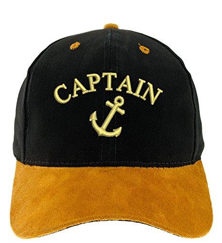 4sold Kapitänsmütze Cap Captain Anker Ancient Mariner, Captain Cabin Boy Crew First Mate Yachting Baseballmütze Inschrift Boy-cap