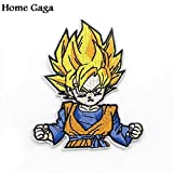 Shoppy Star Homegaga Dragon Ball Son Goku Applique cerotti Adesivi per Il Cucito Bag Jersey Abbigliamento para Jacket Badges Iron On t-Shirt D0563: C
