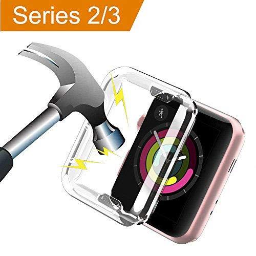 Aottom für Apple Watch Serie 3 Hülle 38mm Silikon Schutzhülle,iWatch Series 2 Displayschutz Apple Watch 3 Case Transparent Protective Bumper iWatch 38mm Schutz Case für Apple Watch Series 3 Series 2